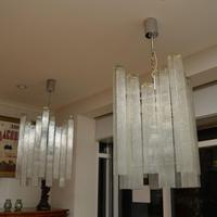 Pair of Large Vintage 1960's Glass Chandeliers by Doria Leuchten (6 of 11)
