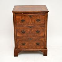Antique Burr Walnut Bachelors Chest of Drawers (4 of 9)