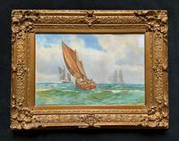 Att: William Boyce 19th Century Sailing Smack Seascape Watercolour Painting (11 of 11)