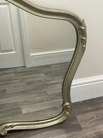 Beautiful French Regency Style Glass Silver Acanthus Crown Overmantle Mirror (2 of 23)