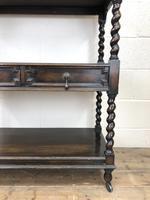 Antique Oak Three Tier Sideboard (4 of 12)