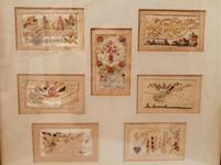 Early 20th century embroidered silk greetings cards (16 of 16)