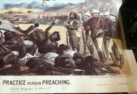 1885 Anti Gladstone Cartoon Practice vs Preaching, Sudan Military Campaigns (3 of 3)
