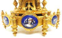 Antique 8 Day Ormolu Mantel Clock Sevres Gothic Knight Tower French Mantle Clock (4 of 8)