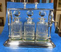 Edwardian Silver Plated Tantalus c.1905 (6 of 14)