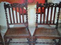 Solid Oak Table with flaps and four chairs. All very substantial in weight! (9 of 9)