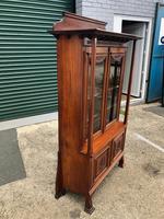 Antique Arts & Crafts Carved Walnut Bookcase (9 of 13)