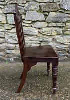 Antique Gothic Oak Hall Chair (8 of 13)
