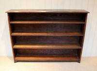 Large Solid Oak Open Bookcase (6 of 9)