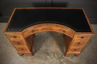 Queen Anne Style Burr Walnut Concave Writing Desk (9 of 18)