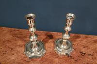 Pair of Antique George III Period Seamed Brass Candlesticks (6 of 7)