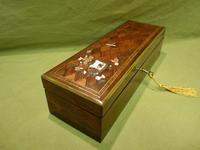 Exquisite French Inlaid – Parquetry Glove – Jewellery Box c.1870 (8 of 11)