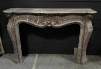 Important French Louis XV Marble Fireplace (7 of 13)