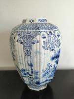 Imposing 19th Century Dutch Delft Blue & White Vase & Cover (6 of 15)
