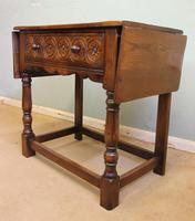 Single Drawer Oak Side Table (4 of 9)