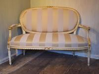 Fine Small Painted & Gilded Sofa (3 of 11)