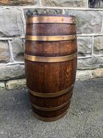 Antique Brass Bound Oak Stick Stand (5 of 6)
