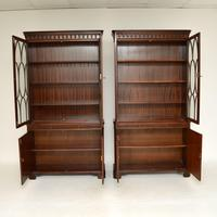 Pair of Antique Georgian Style Mahogany Bookcases (9 of 11)