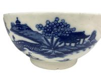 Antique Blue & White Transfer Print Pottery Bowl c.1800 (6 of 8)