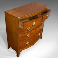 Antique Bow Front Chest of Drawers, English, Mahogany, Tallboy, Victorian, 1870 (6 of 12)