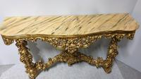 Carved Wood Gilt Console Table (17 of 17)