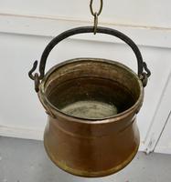 19th Century Beaten Copper Cooking Pot, Cauldron (3 of 4)