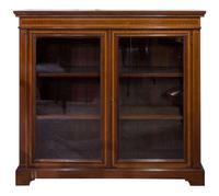 Edwardian Mahogany & Satinwood Bookcase (3 of 7)