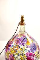 1960s Hand Painted Demi John Lamp with Floral Pattern (3 of 22)