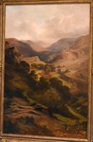 Oil Painting 'The Lledr Valley' by Frank T. Carter (3 of 9)