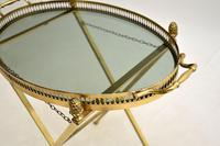 Vintage French Brass Folding Side Table (6 of 8)