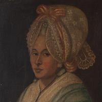 18th-Century French School Portrait of Lady with Bonnet, Oil Painting (4 of 9)