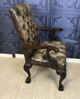 Georgian Style Mahogany Desk Chair c.1920 (7 of 15)