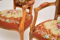 Pair of Antique French Tapestry Salon Armchairs (5 of 10)