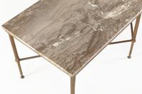 1960s Spanish Brass Coffee Table with Alabaster Top (4 of 5)