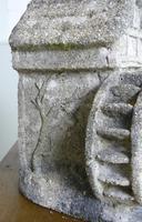 Vintage Mid Century Shell Grit and Concrete Watermill Birdbath (11 of 12)