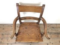 Antique 19th Century Welsh Oak Farmhouse Chair (6 of 10)