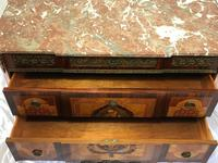 Fine Antique French Empire Style Marble Canted Marquetry Credenza (12 of 12)