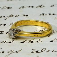 The Vintage 1982 18ct Gold Diamond Solitaire Ring (3 of 4)