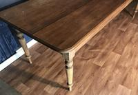 Large Victorian Pine Farmhouse Table (10 of 15)