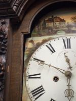 Flemish Carved Oak Grandfather Clock (6 of 13)