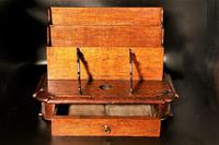 Late 19th Century Oak Slope Fronted Correspondence Box (3 of 5)