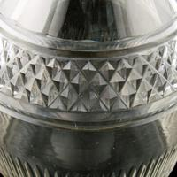 Georgian Triple Ring Neck Cut Glass Decanter (4 of 8)