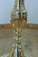 Pair of English 18th Century Georgian Seamed Brass Candlesticks c.1790 (5 of 6)