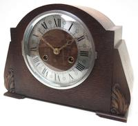 Good Art Deco Oak Mantel Clock – Striking 8-day Arched Top Mantle Clock (3 of 9)