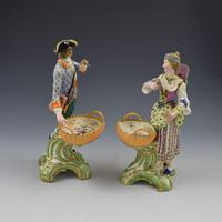 Fine Pair Minton Porcelain Sweetmeat Figures with Baskets Models 84 & 85 c.1830 (9 of 23)