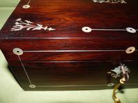 Inlaid Rosewood Jewellery Box + Tray c.1845 (10 of 12)