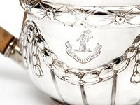 Victorian Silver Bachelor Style Tea Pot with a Crested Body (5 of 7)