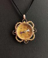 Antique 9ct Gold Compass Pendant, Carnelian (11 of 13)