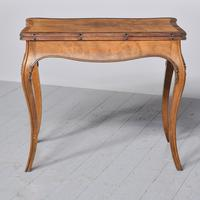French Victorian Yew & Rosewood Fold-over Card Table / Games Table (10 of 11)