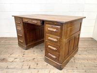 Antique Oak Pedestal Desk (8 of 10)